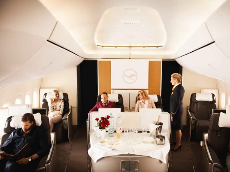 People aren't actually paying for first class.